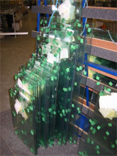 Toughened Glass arriving sorted into sequence